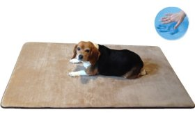 Durable Washable Memory Foam Coral Fleece Waterproof Pet Dog Bed Mat pillow Topper Large 42″X28″ crate size