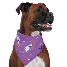 Aria Happy Howl-O-Ween Dog Bandana, Purple
