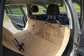 Dog Seat Cover With and Seat Anchors – Ideal for Cars Trucks and SUVs – Protects Your Car Back Seat From Dirt and Pet Hair – Easy to Install| 100% No Hassel Satisfaction Guarantee.