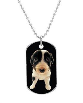 australianshepherd puppy Dog Tag Custom Photo Dimensions: 1.2 x 2 X 0.1 inches with 30″ Aluminum Bead Chain