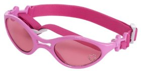 Doggles K9 Optix Shiny Pink Rubber Frame with Pink Lens Sunglasses, Small