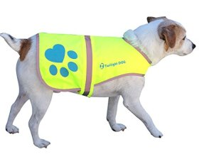 Reflective Dog Vest, Small. Neon Yellow Waterproof Velcro Jacket with Florescent Reflectors. Great Raincoat for Pet while PM Walking – Helps Reflect Car Lights for Safety. Can Also Be Used as Hunting Gear Dog Clothing for the Best Canine Protection and Visibility. Light Weight and Comfortable. You Will Rest Assured With Our K-9 Jacket for All Dogs