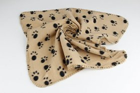 More RM Cute Soft Warm Towel Paw Prints Pet Puppy Dog Cat Fleece Blanket