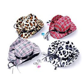 H:oter Fashion Cool Cowboy Hat For Pet, Color & Pattern Random, Pet Supplies, Christmas Gift, Price/Piece