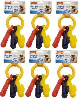 Nylabone Puppy Teething Keys Large 6 pk