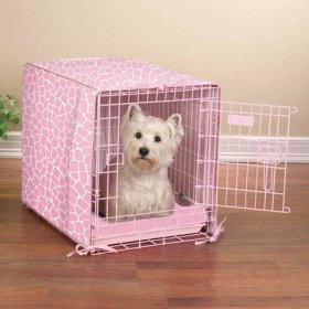 ProSelect Sweet Safari Crate Cover and Medium Petal Pink Bed Set