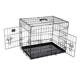 Pet Trex PT2300 24″ Folding Pet Crate Kennel Wire Cage for Dogs, Cats or Rabbits