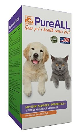 SIMIEN PETS All-In-One Dog & Cat Supplement Powder – Includes PROBIOTICS, HIP JOINT, VITAMINS, ENZYMES, ANTIOXIDANTS & MINERALS – Contains GLUCOSAMINE, Chondroitin & MSM for Arthritis Pain Relief and Joint Mobility – Aids in Relieving Itching, Scratching, Excess Gas & Shedding, Stomach Indigestion – Used as a TREAT or for PREVENTATIVE CARE – Made in USA & 100% Natural – Includes a Bonus E-book – See Results or Your Money Back.