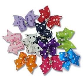 Blyyasgi™ Wholesale Lots Rubber Band Hair Bow Headdress Flower for Puppy Dog Pets Gift (10 pieces)