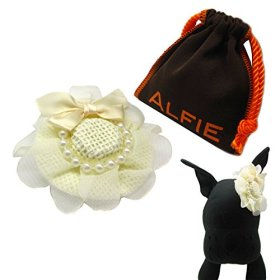 Alfie Pet by Petoga Couture – Michelle Hat Wedding Bridal Hair Clip for Dogs and Cats with Fabric Storage Bag