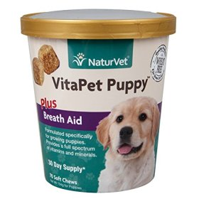 NaturVet 70 Count VitaPet Puppy Plus Breath Aid Soft Chews