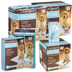 Clearquest Puppy Pads 7 30 50 100 Count Bags Hold 2 5