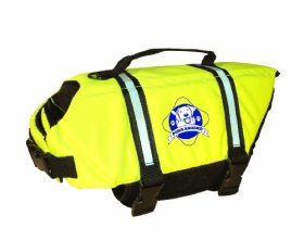 Paws Aboard Designer Doggy Life Jacket, Neon Yellow, Small