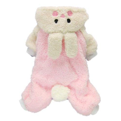 Adorable Bunny Halloween Dog Costumes Dog Hoodie Jumpsuit Dog Coat Pet Dog Clothes,Pink,L