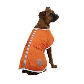 Zack & Zoey Polyester Nor'easter Dog Blanket Coat, Large, Orange