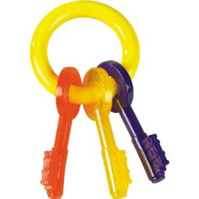 Nylabone Just For Puppies Medium Key Ring Bone Puppy Dog Teething Chew Toy