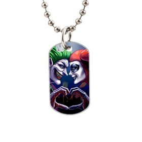 Harley Quinn And Joker Love Fashion Image Custom Unique Personalized Dog Tag Necklaces, dogtag size About 1.3X 2.2 inches Ideal Gift
