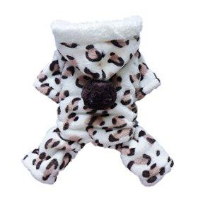 Adorable Leopard Dog Coat for Dog Hoodie Dog Clothes Soft Cozy Pet Clothes,XXL
