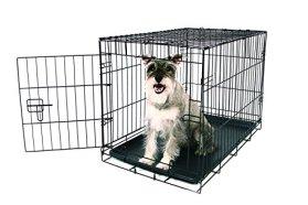 Carlson Secure and Compact Single Door Metal Dog Crate, Medium
