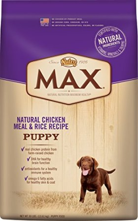 NUTRO MAX Puppy Food Natural Chicken Meal and Rice Recipe 30 Pounds