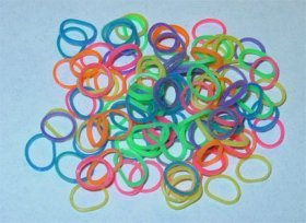 Latex Free Dog Grooming Bands by Fantasy Farm – 3/8″ (9 mm), Rainbow, 500 count