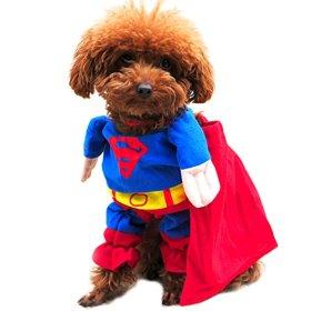Paico Pet Custumes Funny Dog Coat Superhero Superman – S