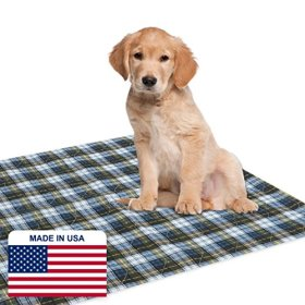 Dry Defender Puppy Pads (34″ x 36″) – Washable Puppy Training Pads for Housebreaking Your Pet