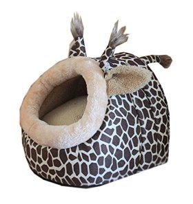 niceeshop(TM) Deer Shape Cozy Puppy Kitten Pet Dog Cat Cotton Bed Nest Cave (Leopard,S)