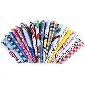 BysitShow Pet Dog Cat Puppy Bandana Bibs Triangle Head Scarfs Accessories Assorted Color for Girls Pack of 10
