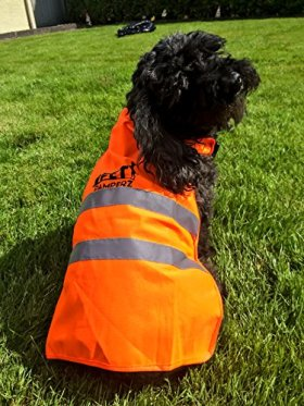 Reflective Dog Vest – Pet Pamperz – Hi Visibility Pet Vest to 700 Meters – Quick Release Buckles – Adjustable Straps with Added Velcro for Medium and Large Dogs for Night Time Walking and Camping