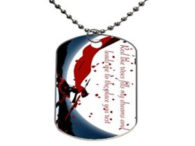Hot Anime RWBY Ruby Rose a-7 Customize Fashion Cool Gift ,Aluminum Oval Dog tag Pet tag Necklace Pendant Chain
