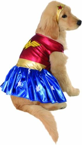 Rubies Costume DC Heroes and Villains Collection Pet Costume, Large, Wonder Woman