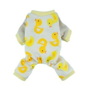 Fitwarm® Cute Duck Dog Pajamas Dog Clothes Dog Jumpsuit Pet Cat Pjs, Large