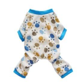 Fitwarm® Adorable Paws Dog Pajamas for Dog Shirt Cozy Soft Dog Pjs Dog Clothes, Medium