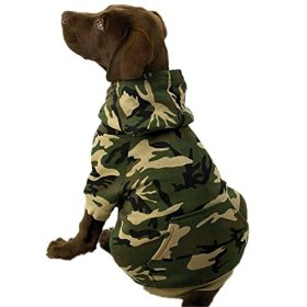 Casual Canine Cotton Camo Dog Hoodie, XX-Large, Green