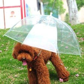 Lesypet Pet Umbrella Dog Umbrellar With Leash, Fits 23″ Back Length