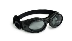 Doggles Originalz Large Frame Goggles for Dogs with Smoke Lens, Black