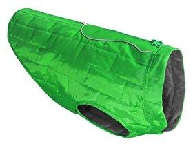 Kurgo Loft Dog Jacket, Large, Green/Gray