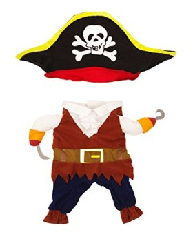 Topsung Cool Caribbean Pirate Pet Costume for Dogs / Cats, Size S