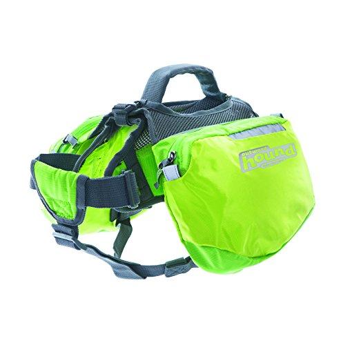 Outward Hound Kyjen  22012 Quick Release Backpack Saddlebag Style Dog Backpack, Large, Green