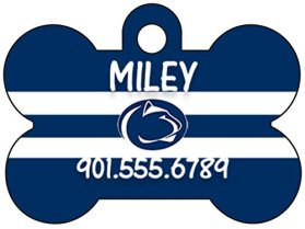 Penn State Nittany Lions Dog Tag Pet Id Tag Personalized w/ Name & Number