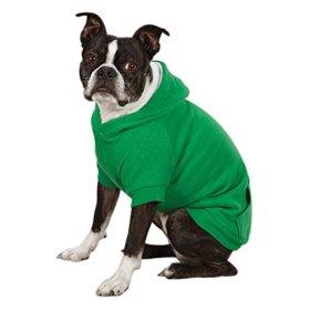 Zack & Zoey Polyester Fleece Lined Dog Hoodie, Medium, Green