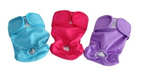 Wegreeco Washable Dog Diaper Covers up (Pack of 3) – Female Dog Wraps – 6 Size Available Reusable Dog Diapers (Small)