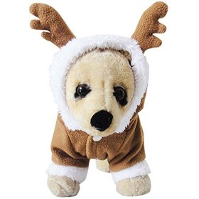 MIXMAX Pet Puppy Dog Christmas Clothes Reindeer Costume Outwear Coat Apparel Hoodie (Reindeer, Small)
