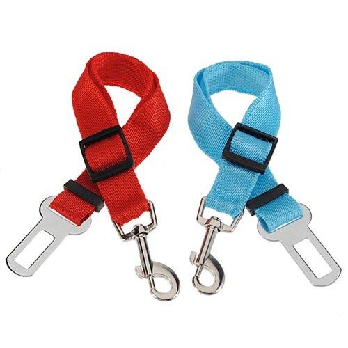 TOOGOO(R) 2X Pet Dog Cat Puppy Car Safety Seat Belt Harness Restraint Adjustable Lead Clip