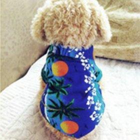 Urparcel Dog Cat T Shirt Pet Clothing Shirt Puppy Clothes Summer Apparel Beachwear Outfit Blue S