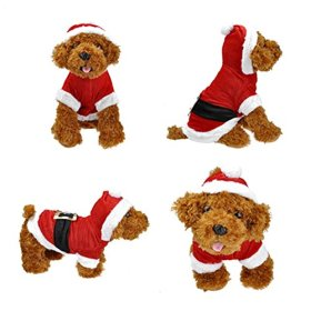 Smartbargain Pet Puppy Dog Christmas Clothes Santa Claus Costume Outwear Coat Apparel Hoodie (S)
