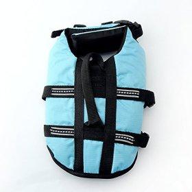 Pet Lifte Preserver – All Sizes – Dog Life Vest Jacket Doggy Life Jacket X-Small Sky Blue
