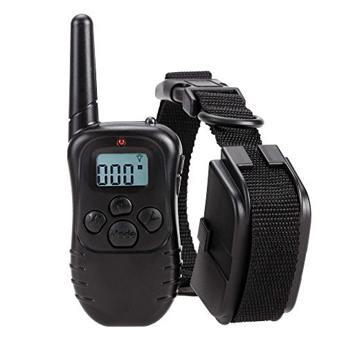 Homdox Dog Training Collar with Remote Pet Training Collars for Dogs 300 Meters Range with LCD Display