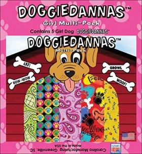 Carolina Doggiedannas Fabric, Girl, 5-Pack